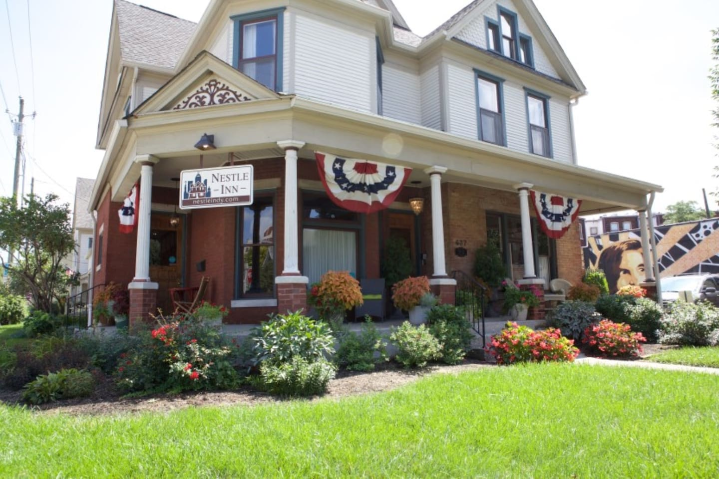 We're not your grandma's B&B!  Afraid of a B&B?  Heard of a B&B stay gone wrong?  No worries...your stay will be modern, easy and located one block off Mass Ave!  Breakfast is inlcuded at Henry's Coffee Bistro or Coat Check Coffee.