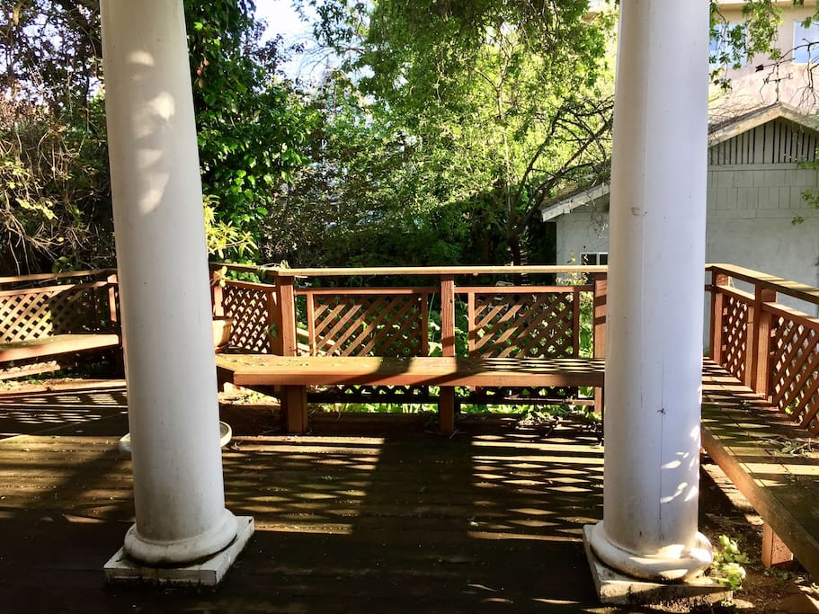 Beautiful and secluded back deck for grilling, entertaining or just enjoying a morning cup of coffee.
