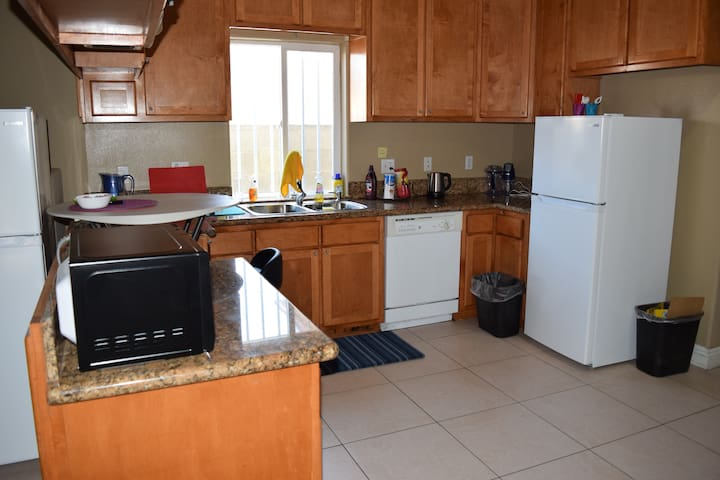 Shared kitchen area to use microwave; NO more refrigerator , but one in your own room