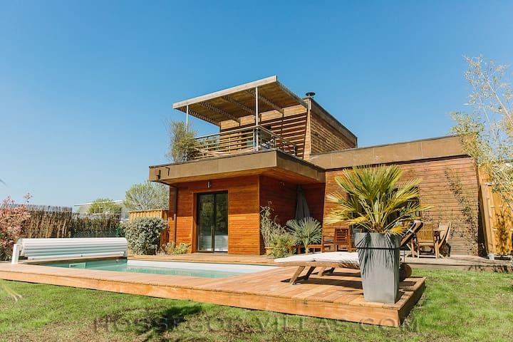Maison contemporaine, avec piscine chauffée - Seignosse - Dům