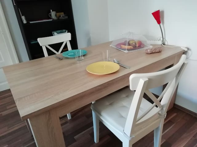 Large dining table if you'd like to eat