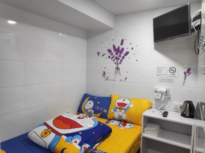 New★Double room~2PPL/Next to Tsim Sha Tsui Station