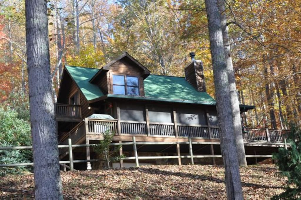 Whispering woods cabin cabins for rent in bryson city for Whispering woods cabins
