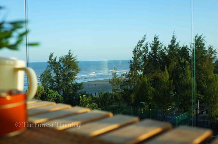 •TheForrest• Tropical Sea View Studio with Balcony