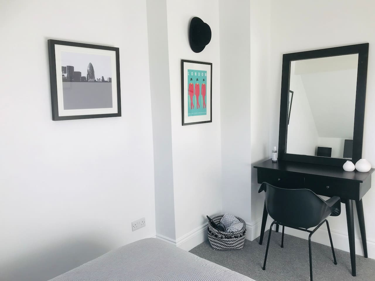 Dressing Table and Seated Area of the Double Bedroom - with hairdryer provided