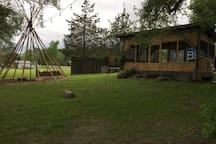 Our meditation Tipi Frame & Gazeebo