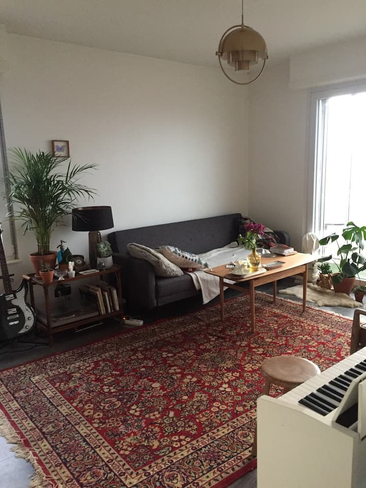 2 rooms near the city center and railway station
