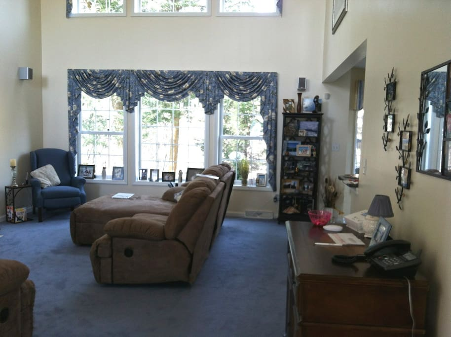 Living room with recliners