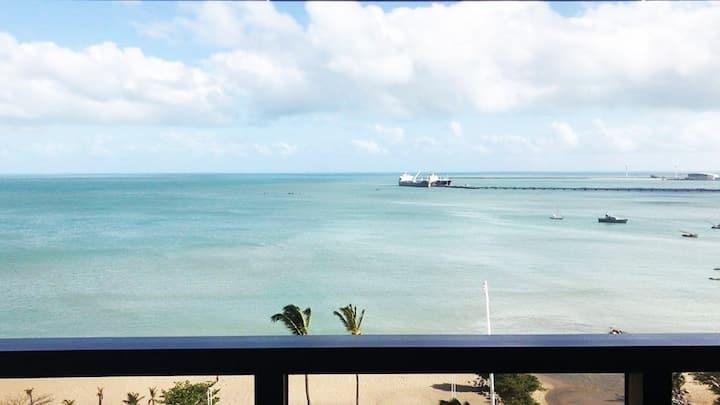 Belissima total vista mar, tambem mensal e anual.