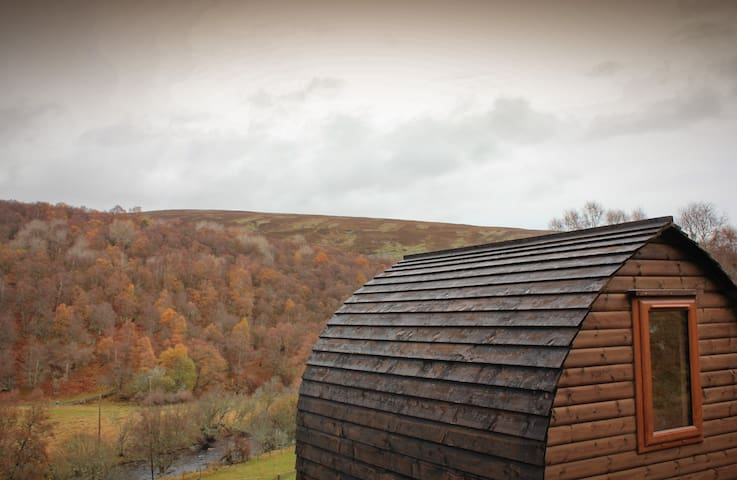 Howe of Torbeg Cosy Glamping Pod outside Ballater