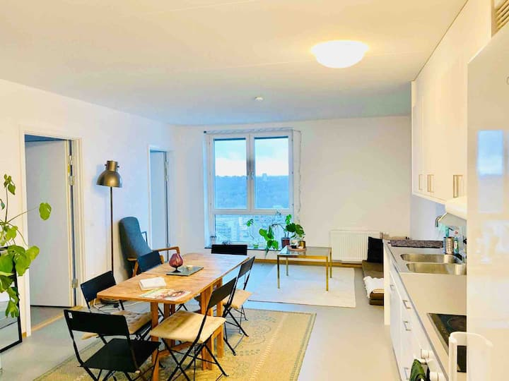 Modern room or 4 room apt with sea & lake view