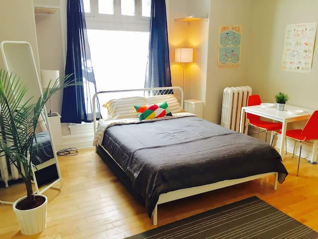 Sunny Golden Triangle Studio w/Charm - Canal - Ottawa - Appartement