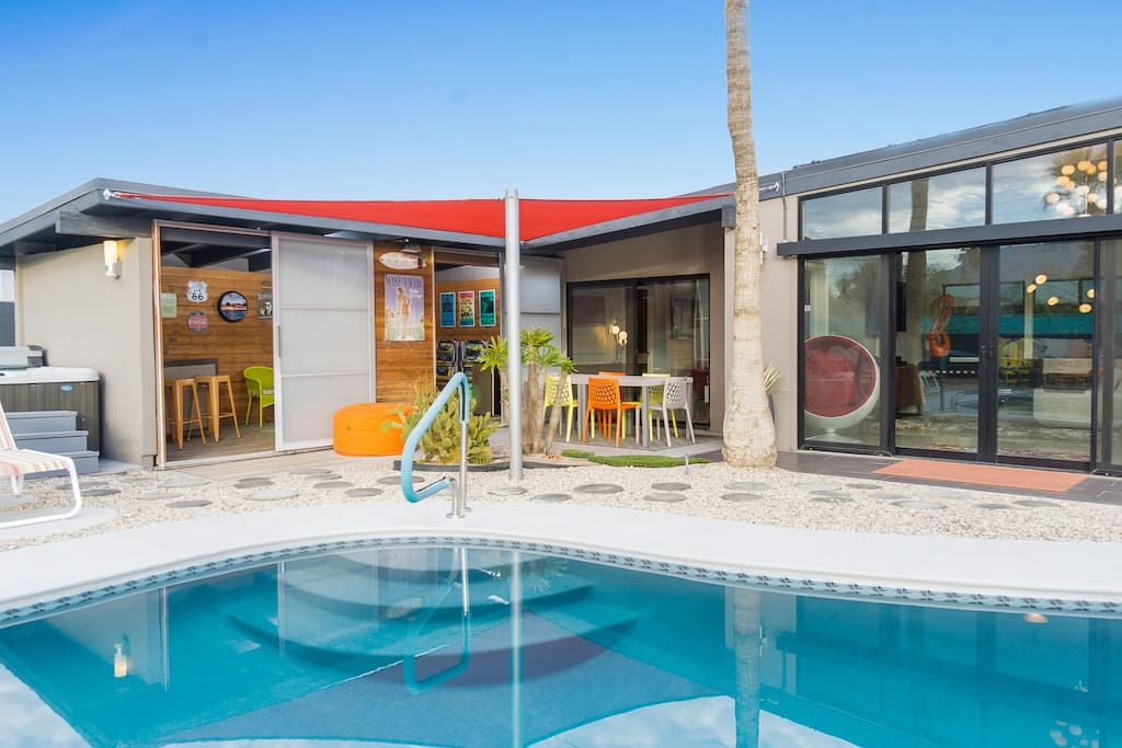 Modernist Palm Springs House W Pool Houses For Rent In Palm Springs California United States