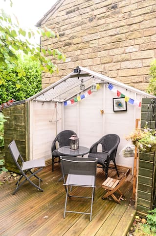 The Gazebo is the perfect place to hang out outside at night. Though it's also useful if it's raining!