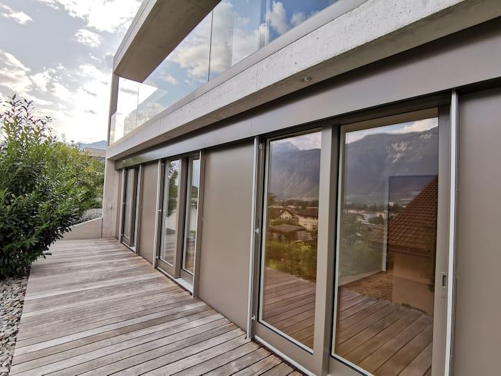 Villa  contemporaine entre thermes et montagnes