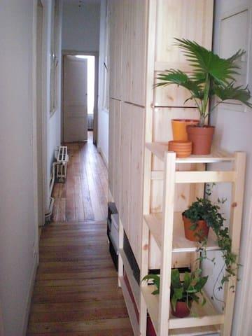 Long corridor to the room