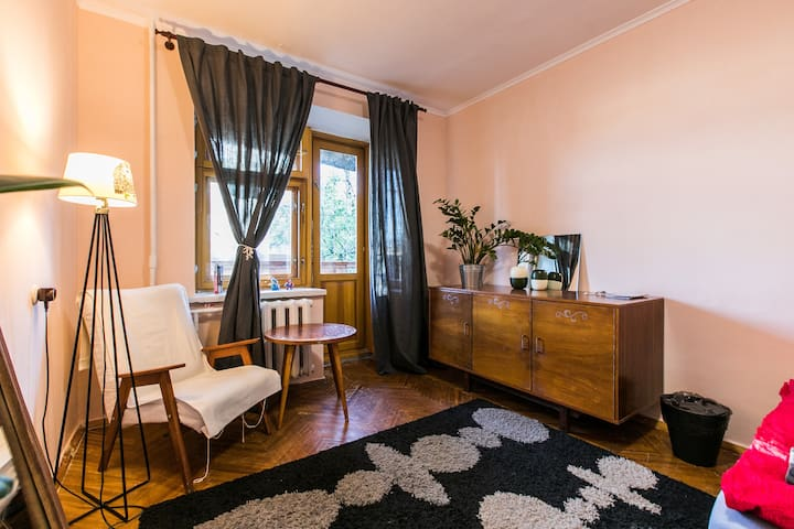 Bright room, good host, city center