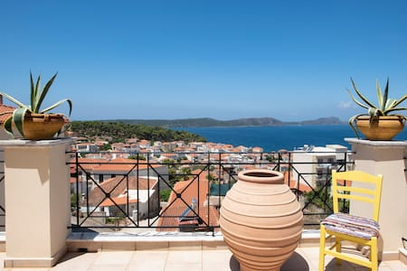 View over Pylos (Messinia, Greece).