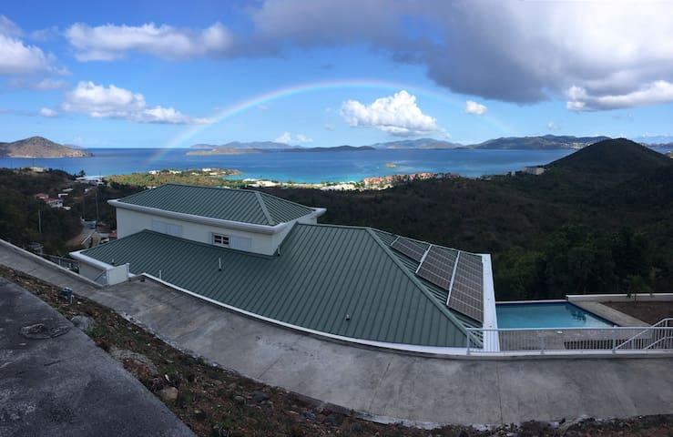 Most beautiful down island views on the island.