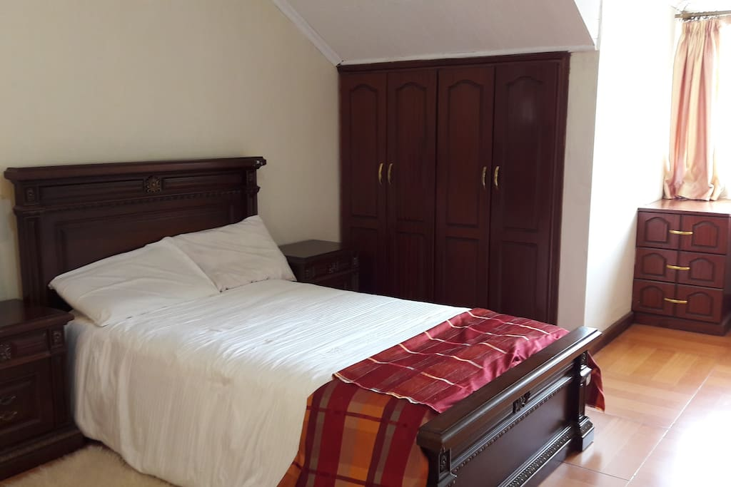 Spacious master en suite room with wardrobes. Can accommodate 2pax.
