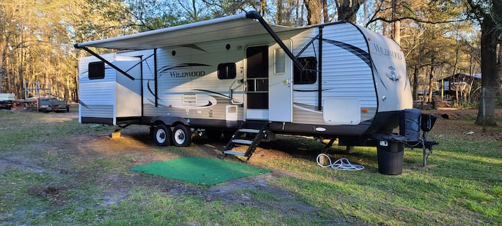 The big one! Large 2 bedroom RV - in the forest