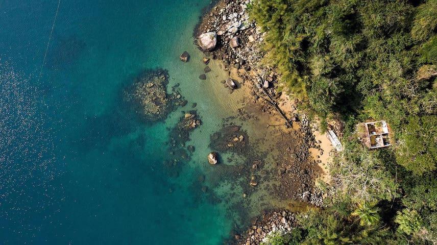 Suíte na Praia da Longa - Ilha Grande