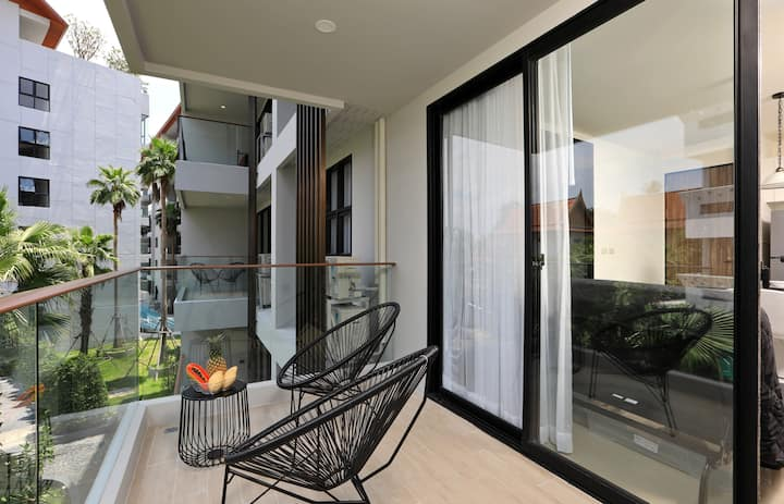 Roomy, Cool Apartments in New condo, 5 min walking to ❤️ Surin beach (B207)