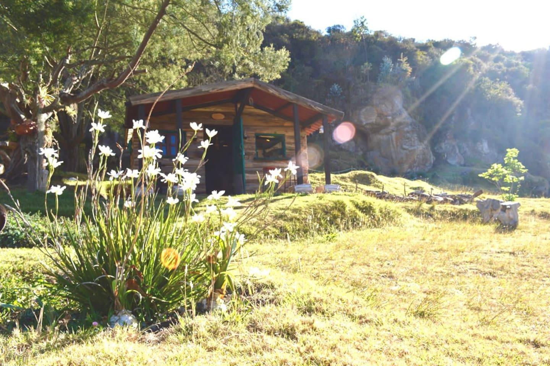 Guaque, una cabaña con un encanto especial.