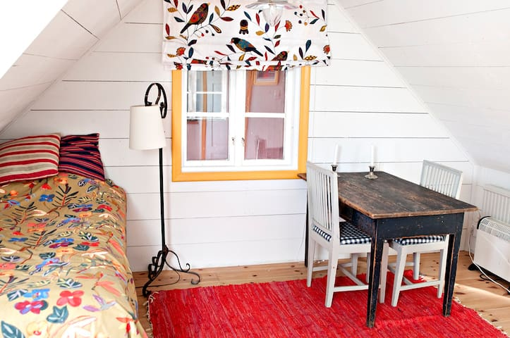 Single bed in studio flat