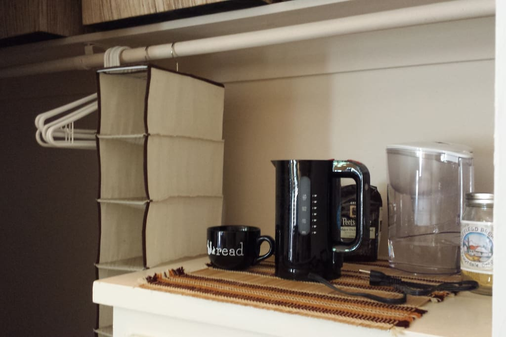 Tea & Coffee: Plus space for shoes, luggage & clothes