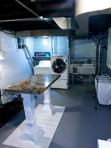 The newly renovated laundry room at the Montego Bay House.