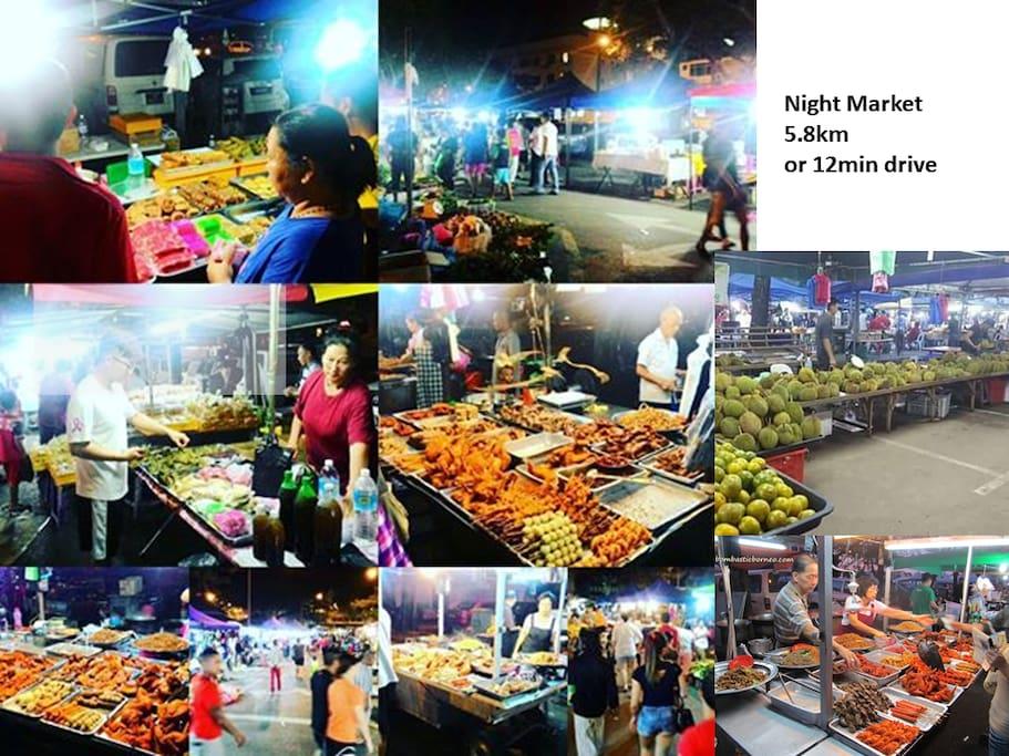 Night Market, 5.8KM or 12Min Drive.