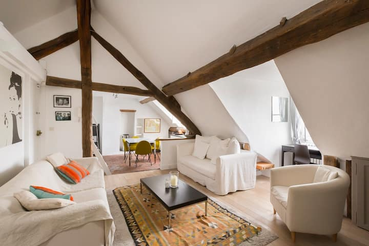 Cosy 3 bed attic apartment in heart of the 5th arr