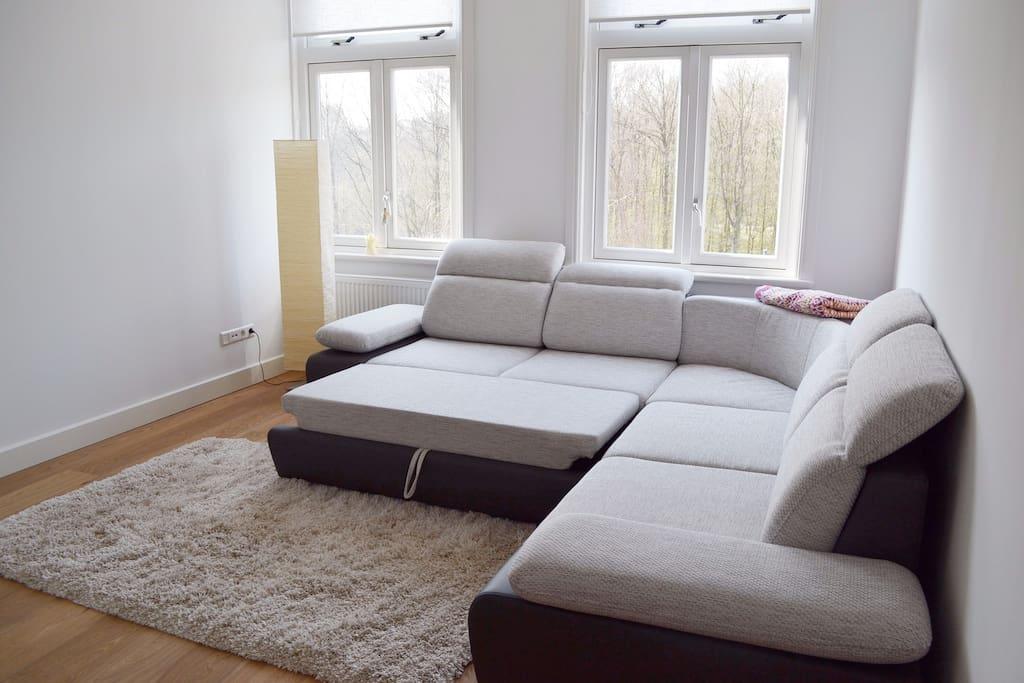 spread out sleeping sofa