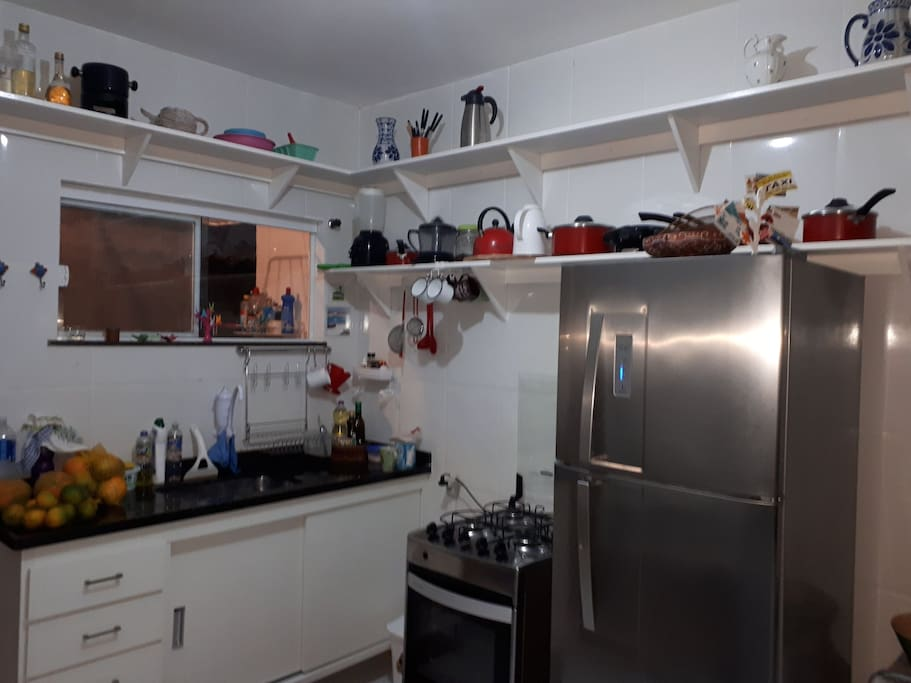 Cozinha totalmente equipada