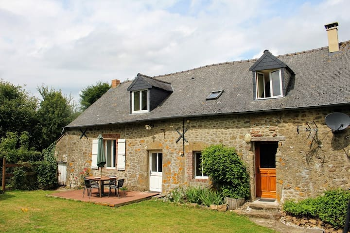 Rural Gite cottage surrounded by farms & lakes.