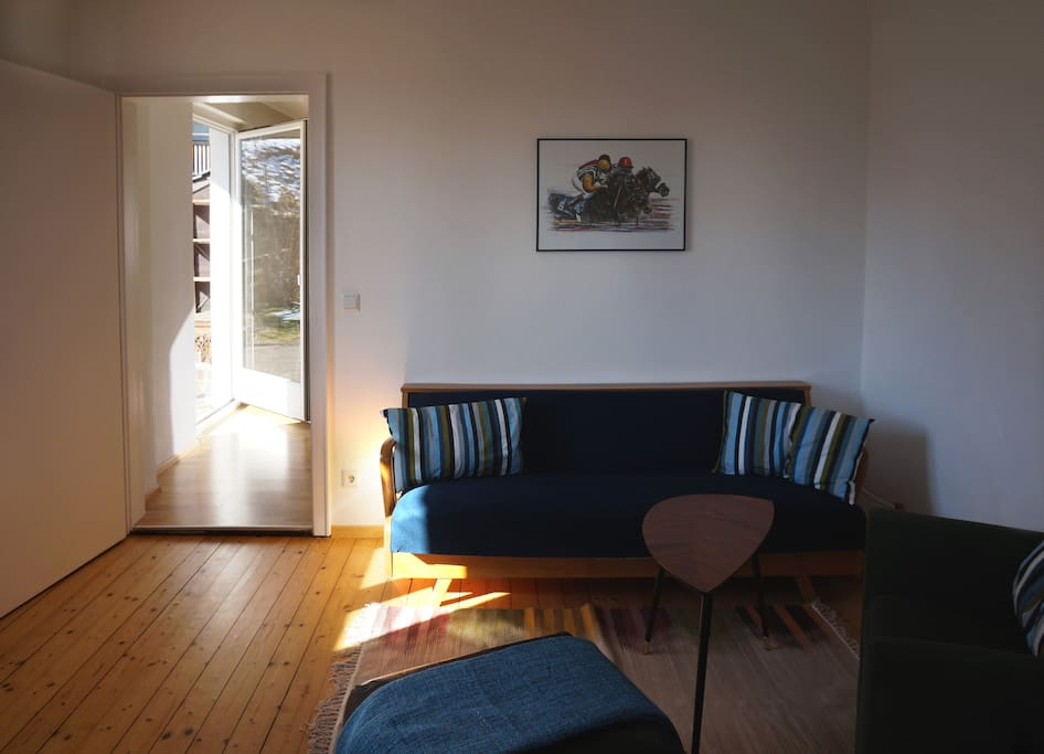 Cosy living room with view over looking Innsbruck
