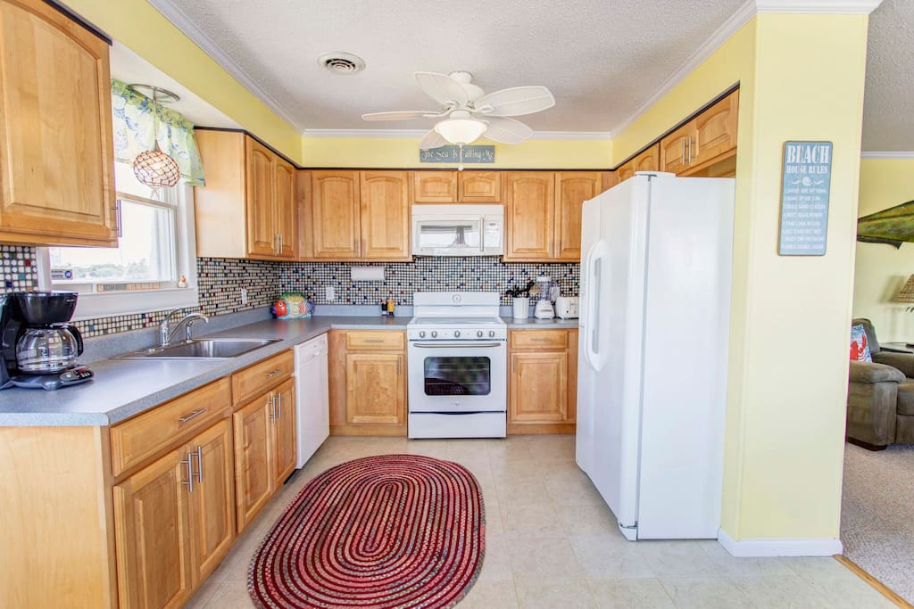 Updated Kitchen with New Fridge and Stove