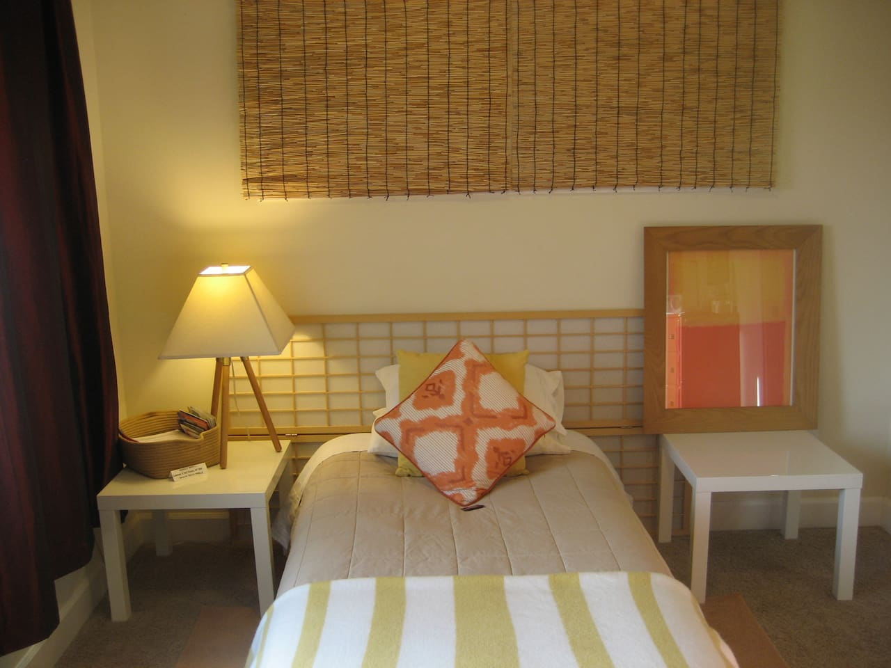 Art filled room, own heat you control plus AC in summer, private bath and more!