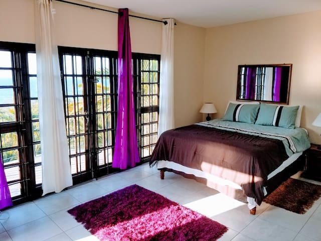 Huge Bedroom with French Doors to Private Balcony!
