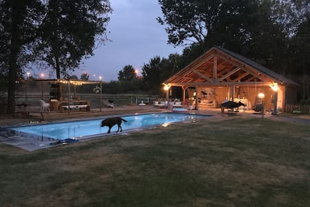 Superbe private pool house Inc heated pool, 6 pers