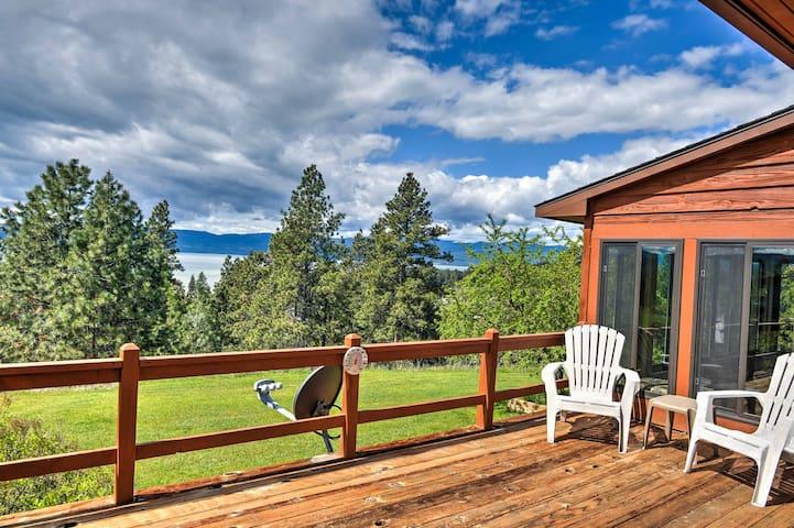 Bigfork House w/ Deck & Views of Flathead Lake!