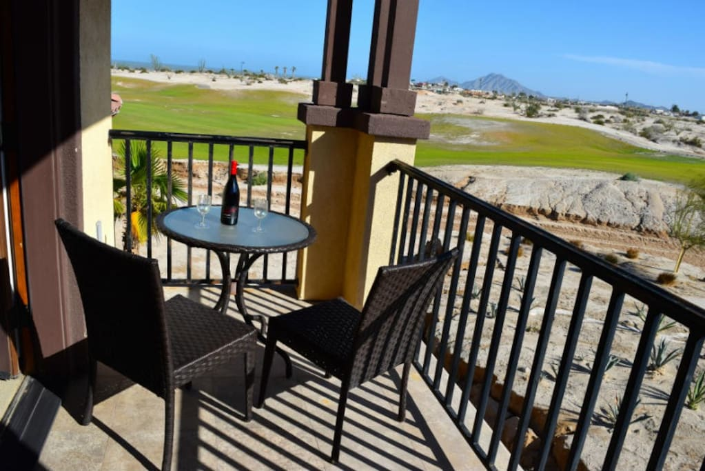 Golf course and beach view from front patio