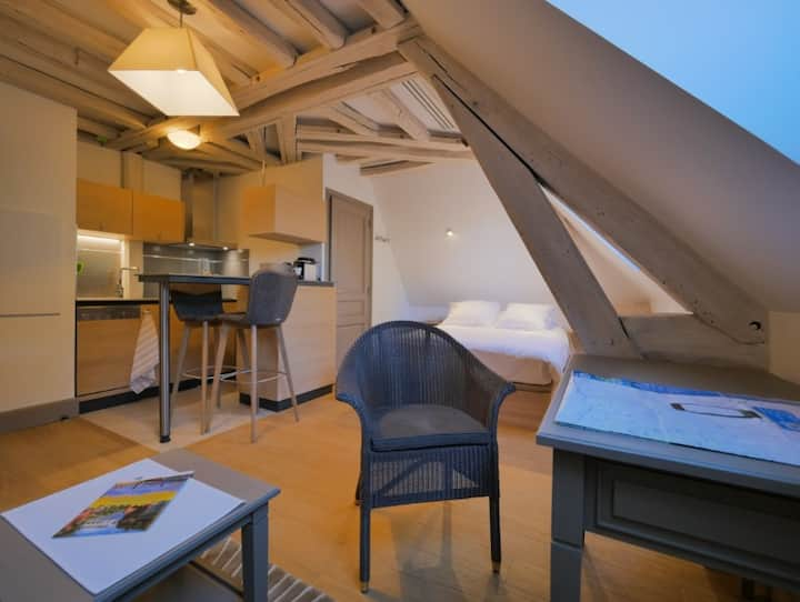 Charming and cosy studio in the Prébendes Garden
