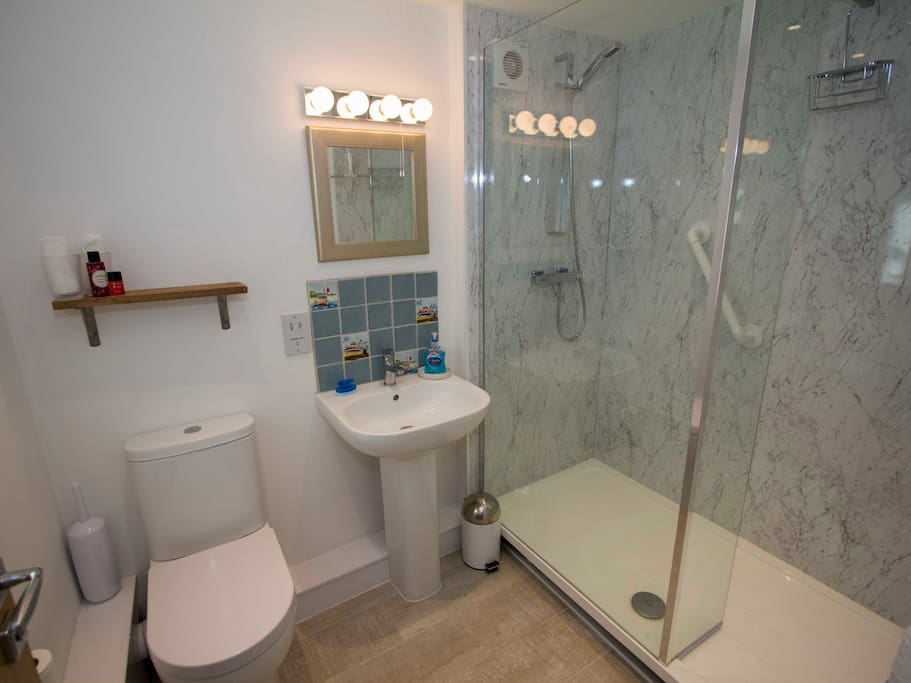 Own bathroom with large shower