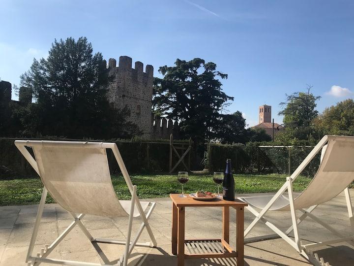 Villa Veneta vista Castello con terrazza esclusiva