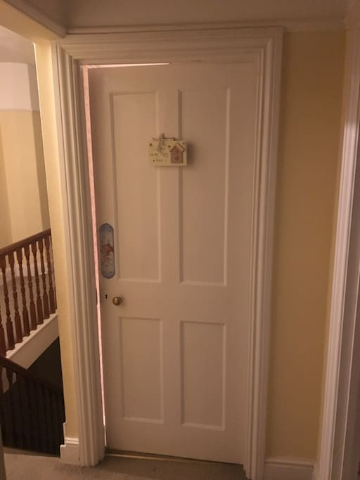 Bedroom door And stairway
