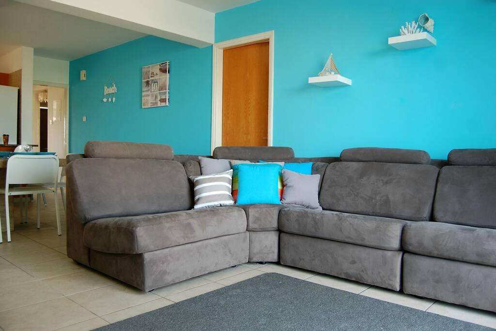 Comfy L shaped sofa