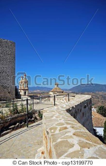 vistas dede el castillo arave