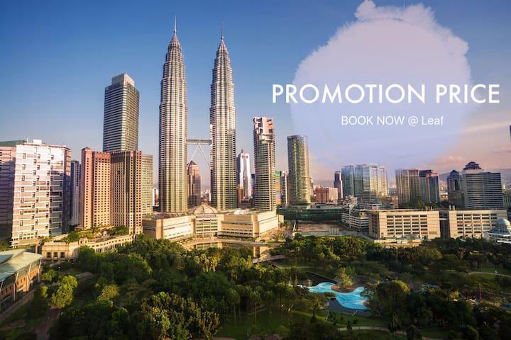3BR near city center/KLCC/WIFI/LRT - Kuala Lumpur - Apto. en complejo residencial